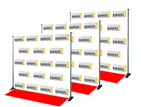 Image result for Step and Repeat Banner with Stand and Red Carpet